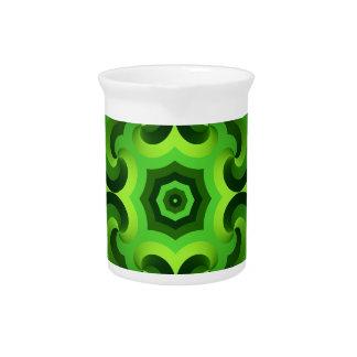 Pichet Motif vert