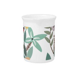 Pichet Motifs et feuille floraux d'eucalyptus