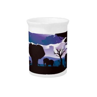 Pichet Nuit africaine avec l'éléphant 5