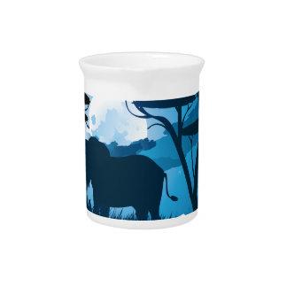 Pichet Nuit africaine avec l'éléphant 6