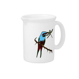 Pichet Observateur d'oiseau coloré