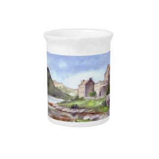 Pichet Peinture d'aquarelle de château d'Eilean Donan
