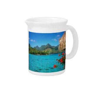 Pichet Prière et Bora Bora 2-SIDED de sérénité