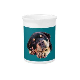 Pichet Race allemande canine de chien de Rott d'amour de