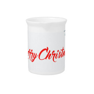 Pichet salutation de Noël de Joyeux Noël
