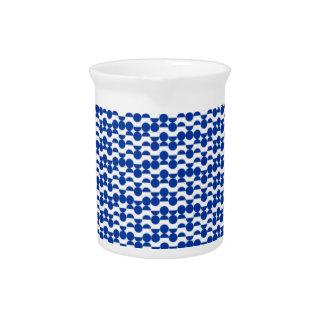Pichet semi mosaïque de bleu de cercle