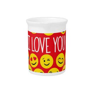 Pichet Stupéfier je t'aime le cadeau d'Emoji
