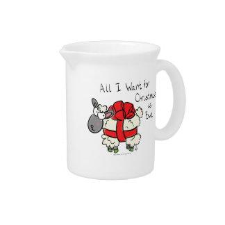 Pichet Tout que je veux pour Noël est tasse de café de