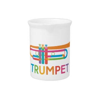 Pichet Trompette vibrante dans des couleurs d'arc-en-ciel