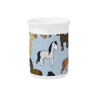 Pichet Troupeau mignon de chevaux