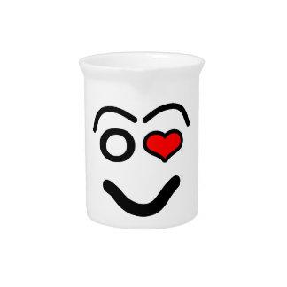 Pichet Visage drôle d'amour