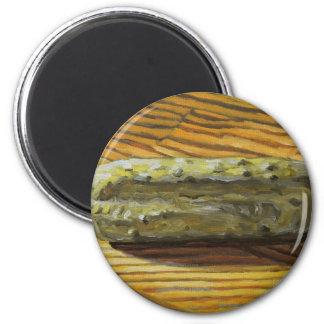 Pickle à l'aneth magnet rond 8 cm