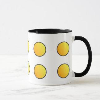 Picto - Mug - Coloris : Jaune-orangé