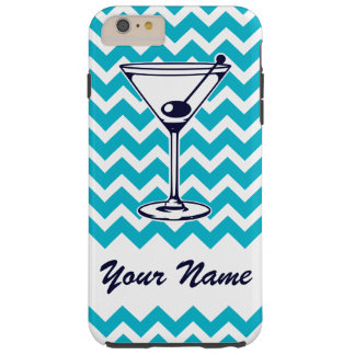 Pictogramme de Martini avec le motif bleu de Coque iPhone 6 Plus Tough
