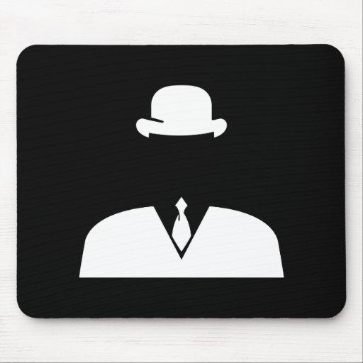 pictogramme invisible mousepad d 39 homme tapis de souris zazzle. Black Bedroom Furniture Sets. Home Design Ideas