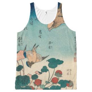 Pie-grièche vintage de Hokusai et art de GalleryHD Débardeur Tout-imprimé