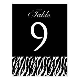 Pièce blanche noire de nombre de Tableau de zèbre Carte Postale