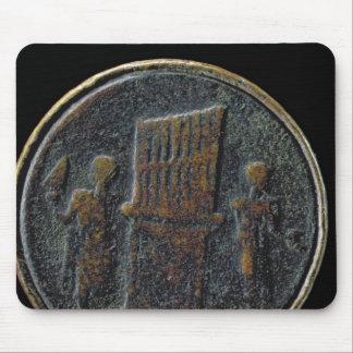 Pièce de monnaie romaine dépeignant un organe tapis de souris