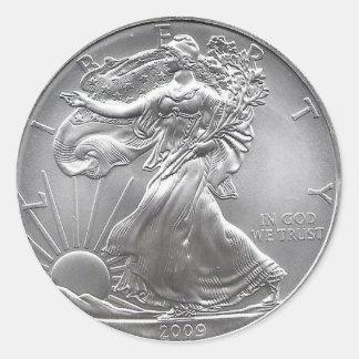 Pièce de monnaie sticker rond