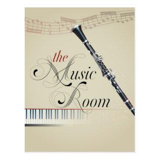 Pièce de musique de clarinette cartes postales