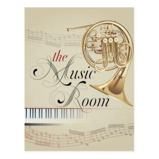 Pièce de musique de cor de harmonie carte postale