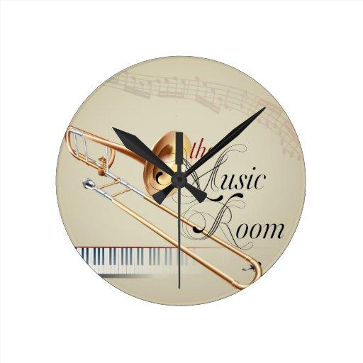 Pièce de musique de trombone pendules murales