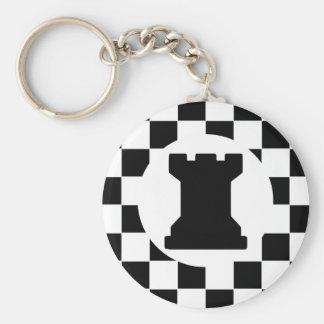 Pièce d'échecs de freux - porte - clé - cadeaux porte-clé rond