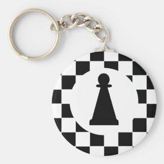 Pièce d'échecs de gage - porte - clé - cadeaux porte-clé rond
