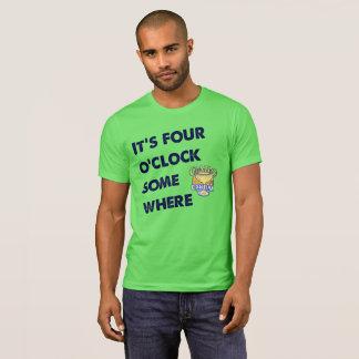 Pièce en t à quatre heures des hommes t-shirt