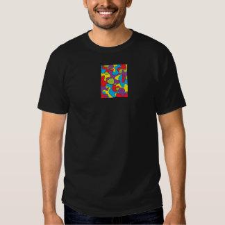 Pièce en t abstraite d'atelier de reliure de t-shirts