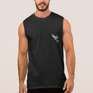 Pièce en t américaine Sans manche-Un noire de T-shirt Sans Manches