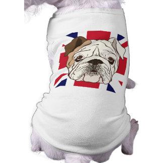 Pièce en t anglaise de bouledogue et de chienchien t-shirt pour chien