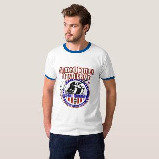 Pièce en t baguée adulte de cou t-shirt