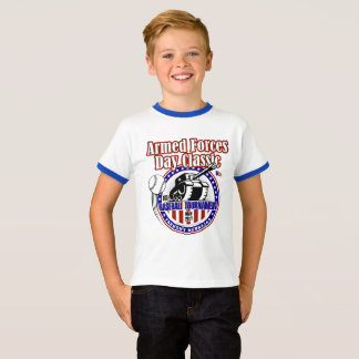 Pièce en t baguée de cou de la jeunesse t-shirt