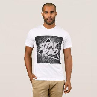 Pièce en t blanche de rad du séjour des hommes t-shirt