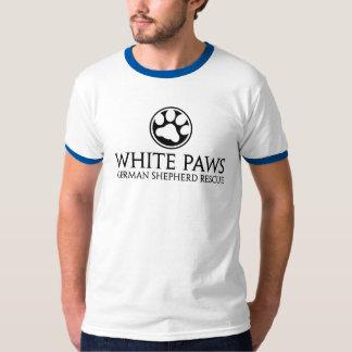 Pièce en t bleue/blanche de sonnerie t-shirts