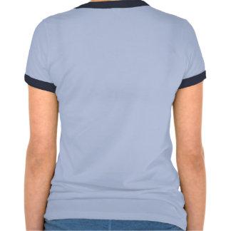 Pièce en t bleue de la sonnerie MSB des femmes T-shirts