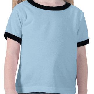 pièce en t bleue de sonnerie de temps de crème t-shirts