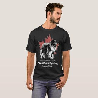 Pièce en t canadienne artistique noire de Keeshond T-shirt