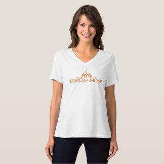 Pièce en t courte de V-Cou de douille T-shirt