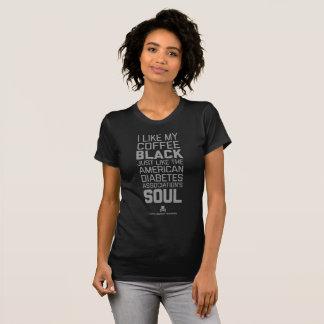 Pièce en t d'âme du café noir d'humanité d'Agains T-shirt