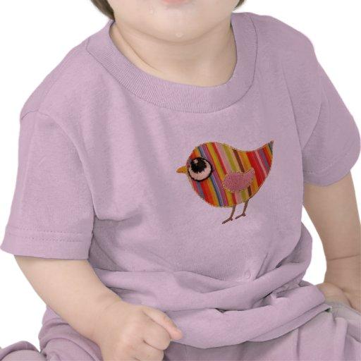 Pièce en t de bébé de birdie t-shirts
