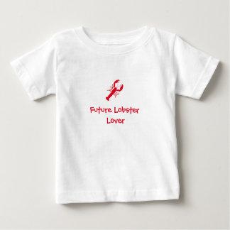 """Pièce en t de bébé de """"futur amant de homard"""" t-shirt pour bébé"""