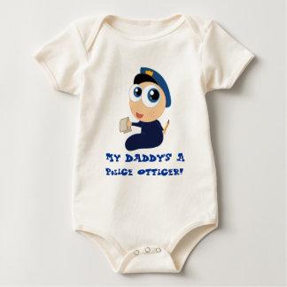 Pièce en t de bébé de papa de policier body