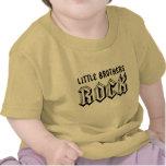 Pièce en t de bébé de roche de petits frères t-shirts