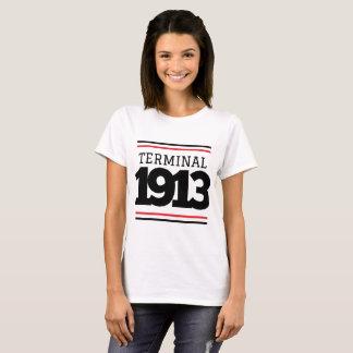 Pièce en t de blanc du terminal 1913 de dopant t-shirt