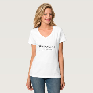 Pièce en t de blanc du terminal 1913 t-shirt