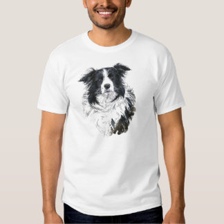 Pièce en t de border collie t-shirts