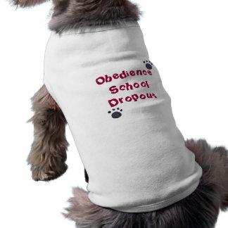 Pièce en t de chien d'abandon scolaire d'école d'o t-shirt pour chien