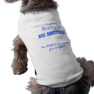 Pièce en t de chien du frère du bébé t-shirt pour chien